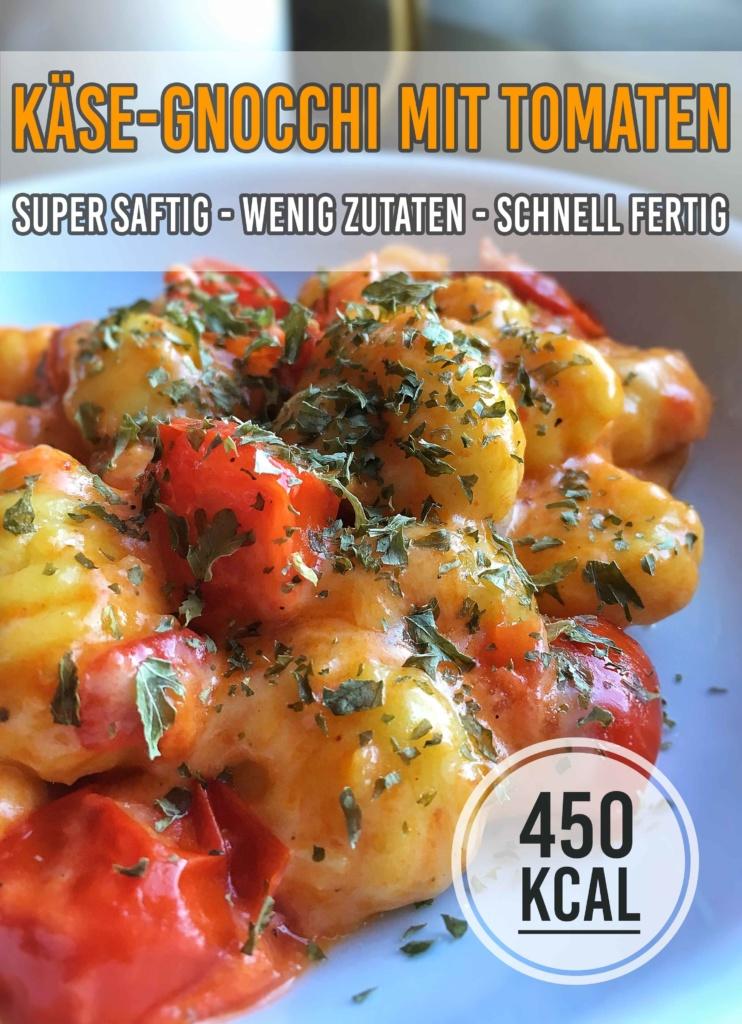 Super leckere und saftige Käse-Gnocchi. Mit wenigen Zutaten echtes Soulfood zaubern. Perfekt, wenn es schnell gehen muss. - kaloriengeniessen.de #gnocchi # käse #tomaten #diät #kaloriengeniessen