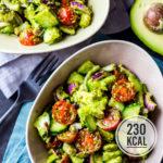 Gesunder Avocado-Salat - geht schnell, macht satt und ist meal-prep geeignet