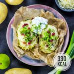 Gefüllte Ofenkartoffel mit light-Kräuterquark