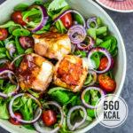 Ziegenkäse-Salat mit Bacon und Balsamico-Dressing (macht richtig satt)