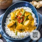 Panang Thai Curry mit Hähnchen und grünen Bohnen (super schnell gemacht)
