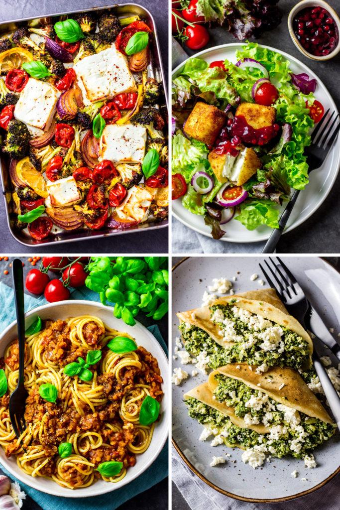 Kalorienarme Rezepte mit viel Eiweiss halten dich lange satt, damit du dein Kaloriendefizit leichter einhalten kannst. Einfach Abnehmen ohne Hunger. Gesundes und kalorienarmes Mittagessen und Abendessen mit viel Protein. Leckere und einfache Eiweiss-Rezepte zum satt essen und Abnehmen. - kaloriengeniessen.de #highprotein #abendessen #mittagessen #ebook #kochbuch #machtsatt #eiweissreich #mittagessen #kalorienarm #gesund #kalorienarmerezepte #kaloriengeniessen #rezeptezumabnehmen #langesatt