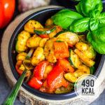 Einfacher Gnocchi-Salat mit Gemüse (vegetarisch, kalorienarm und auch lauwarm sehr lecker)