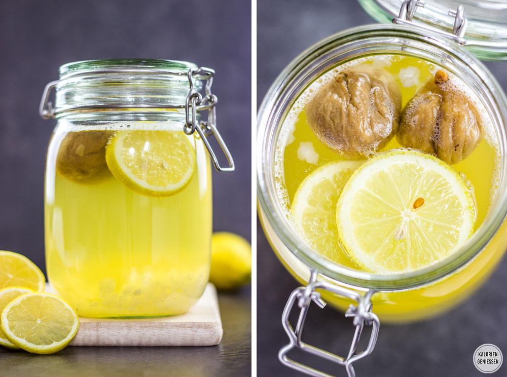 Einfaches Rezept für Wasserkefir-Limonade: Das probiotische und kalorienarme Sommergetränk ist erfrischend spritzig und gesünder als Cola und Eistee. Die Wasserkefir-Kristalle werden einfach mit Zucker, Wasser und Trockenfrüchten angesetzt und nach 2 Tagen ist die gesunde Limonade schon fertig. Gesundes und kalorienarmes Kochen. Schnelle und einfache Rezepte zum Abnehmen. - kaloriengeniessen.de #gesundelimonade #wasserkefir #Trockenobst #Feigen #Zucchini #Kohlensäure #sommer #spritzig #Milchsäure #Drinks #kalorienarm #gesund #kalorienarmerezepte #kaloriengeniessen #rezeptezumabnehmen